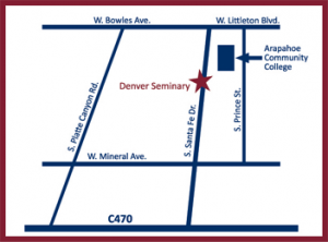 Map To Transformational Marriage Counseling, Littleton CO 80120